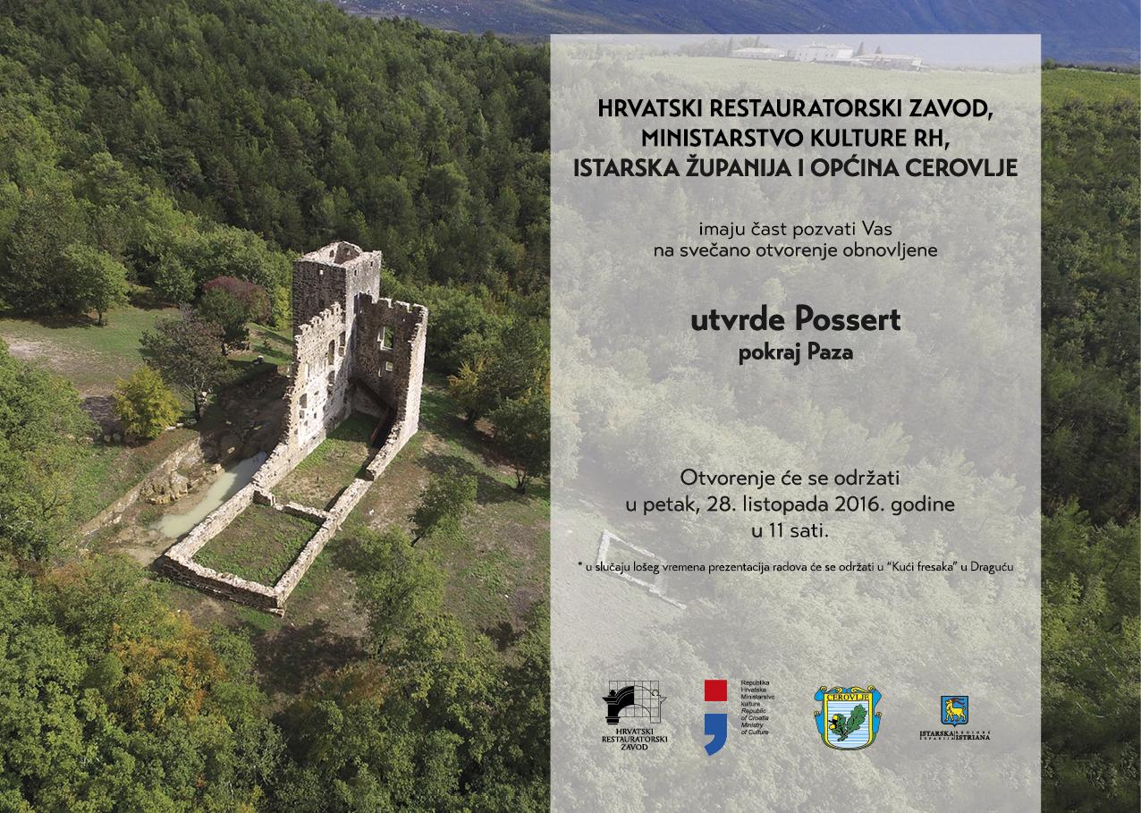 HRZ – Otvorenje obnovljene utvrde Possert pored Paza u Istri[PRESS]